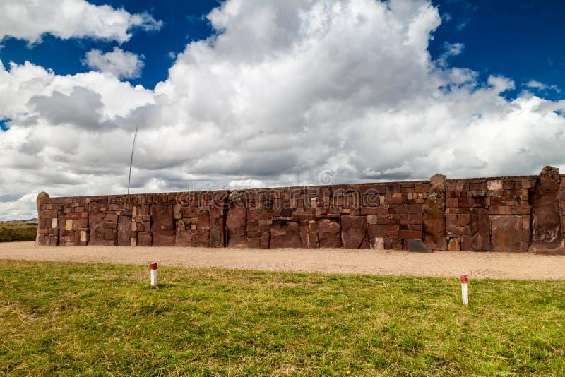 Ruínas de Tiwanaku, Bolívia imagem de stock royalty free