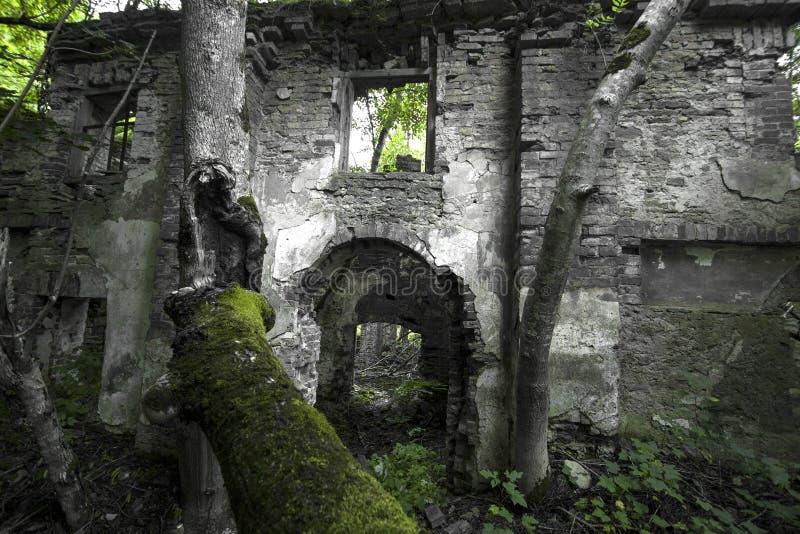 Ruínas de uma casa velha fotos de stock