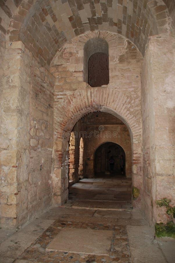 Ruínas de uma cidade antiga em Turquia perto de Antalya foto de stock royalty free