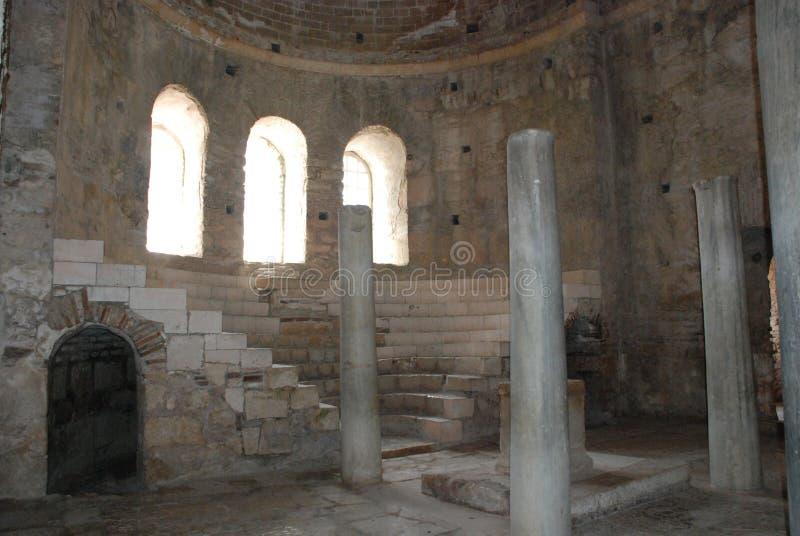 Ruínas de uma cidade antiga em Turquia perto de Antalya foto de stock