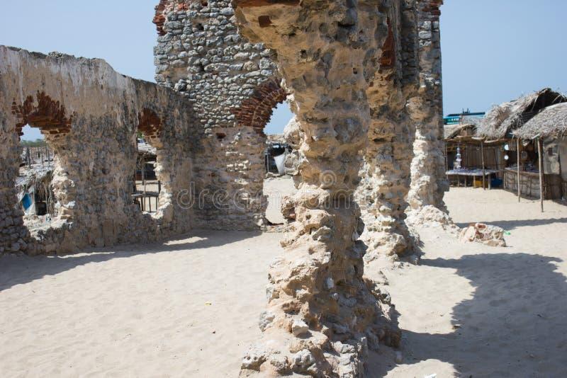 Ruínas de uma igreja velha fotografia de stock