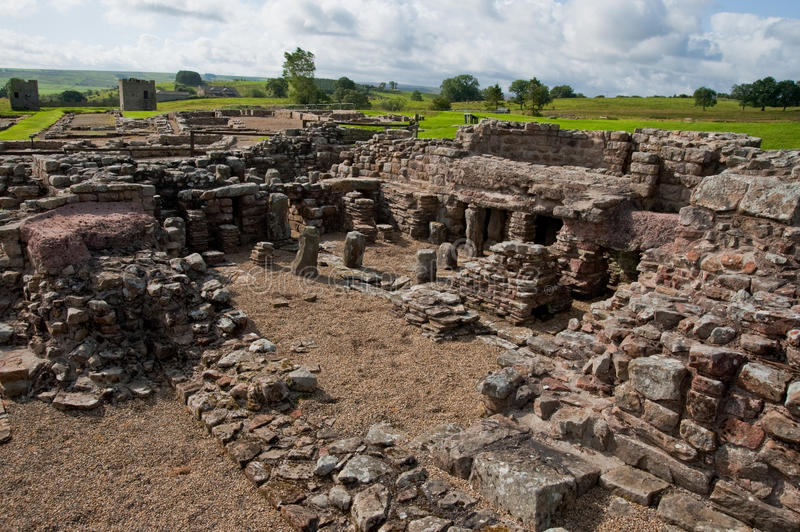 Ruínas de Vindolanda foto de stock royalty free