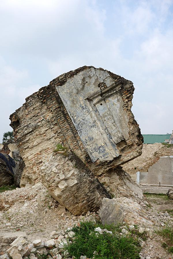 Ruínas dentro do forte Sri Lanka de Jaffna foto de stock