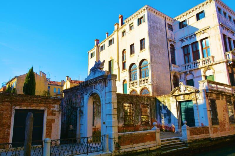 Ruínas, detalhes, em Veneza, Itália fotos de stock royalty free
