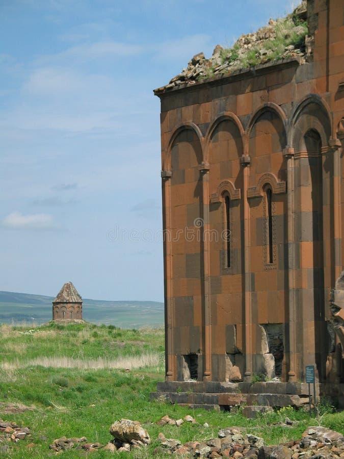 Ruínas do Armenian fotografia de stock