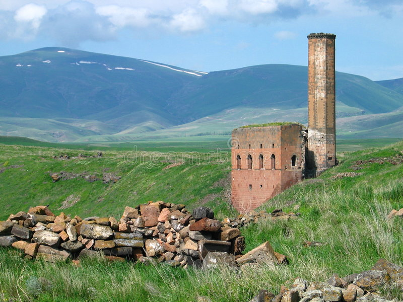 Ruínas do Armenian foto de stock