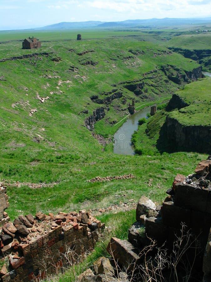 Ruínas do Armenian imagem de stock