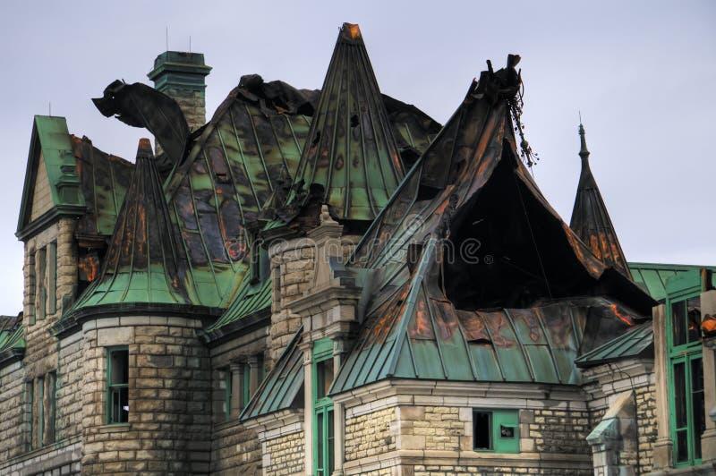 Ruínas do arsenal de Quebec City imagem de stock royalty free