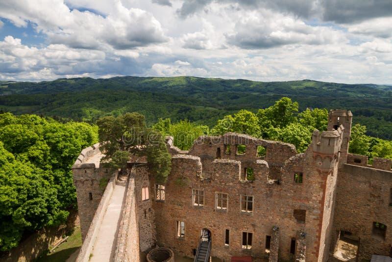 Ruínas do castelo Auerbach fotos de stock