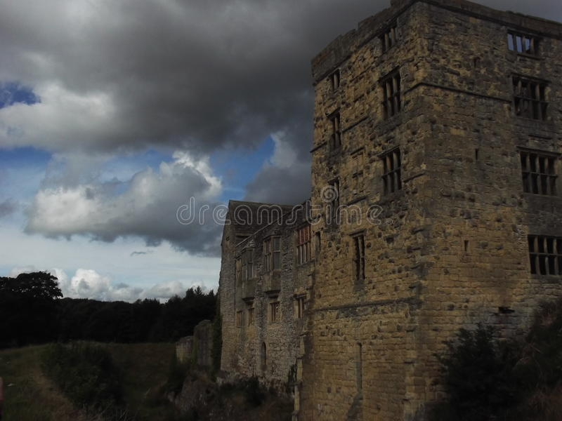 Ruínas do castelo de Helmsley fotos de stock