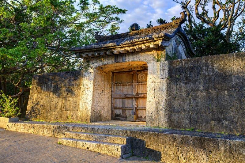 Ruínas do castelo de Shuri imagens de stock royalty free