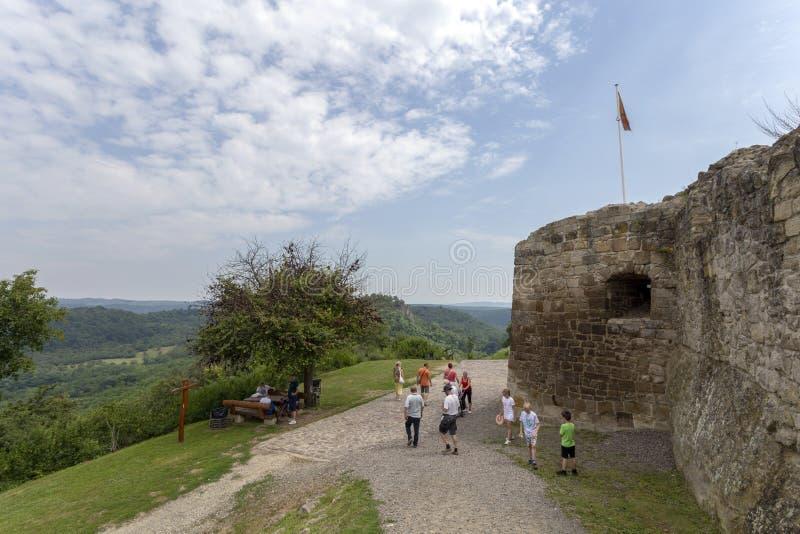 Ruínas do castelo de Sirok imagem de stock royalty free