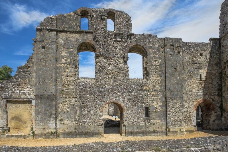 Ruínas do castelo de Wolvesey, Winchester, Inglaterra fotografia de stock