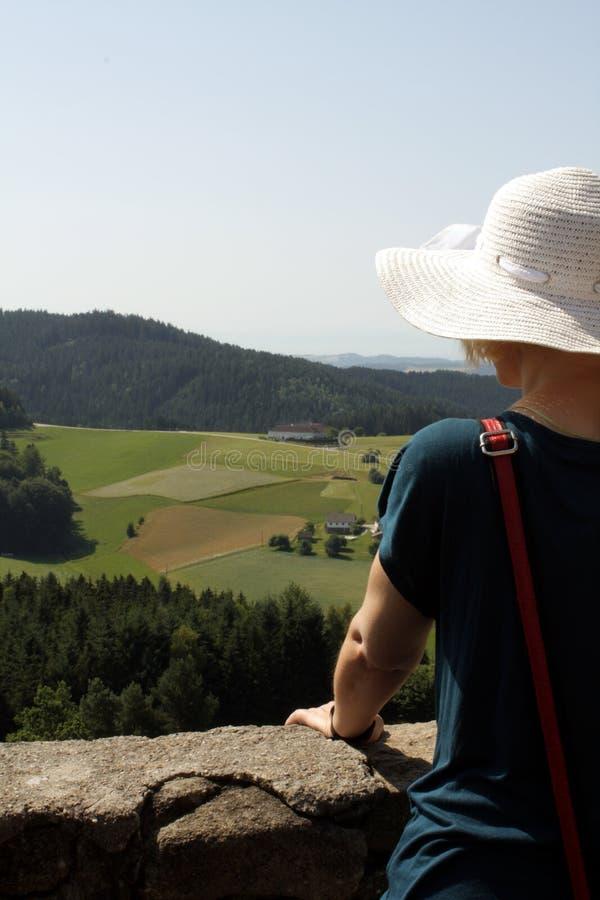 Ruínas do castelo em Prandegg, Áustria fotos de stock