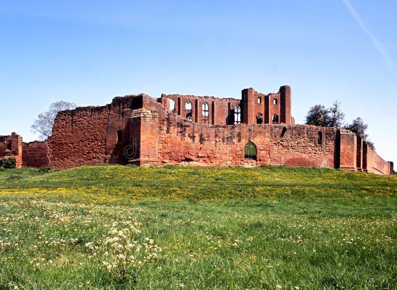 Ruínas do castelo, Kenilworth, Inglaterra. fotografia de stock