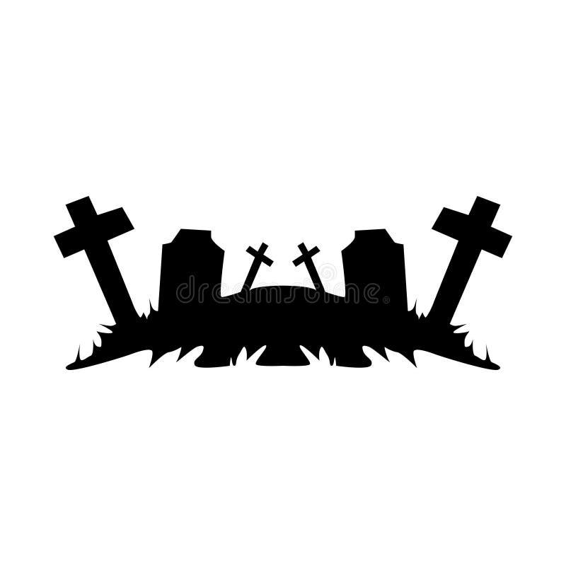 Ruínas do cemitério ilustração stock