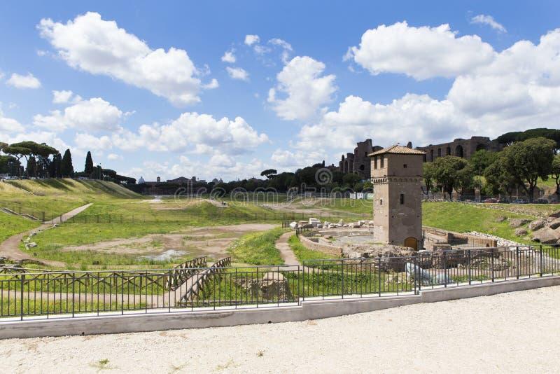 Ruínas do circo Maximus em Roma imagem de stock