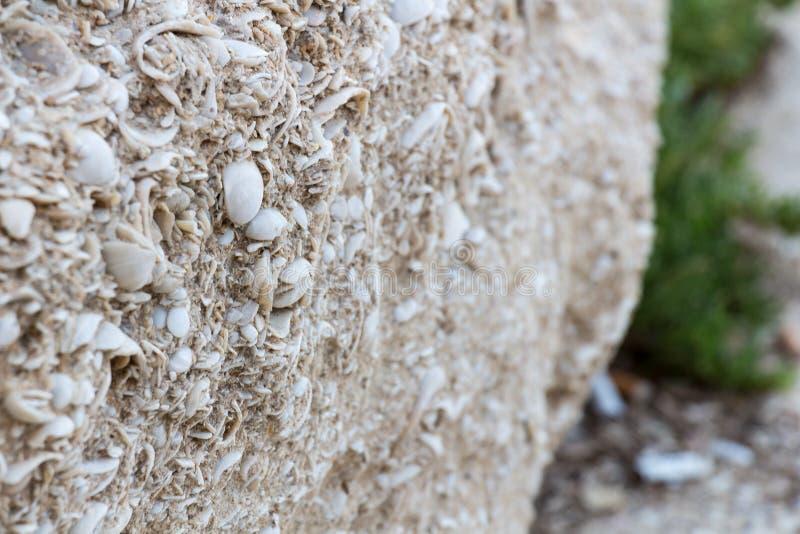 Ruínas do close-up antigo da parede israel fotos de stock royalty free