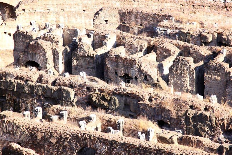 Ruínas do Colosseum em Roma, Italia imagens de stock