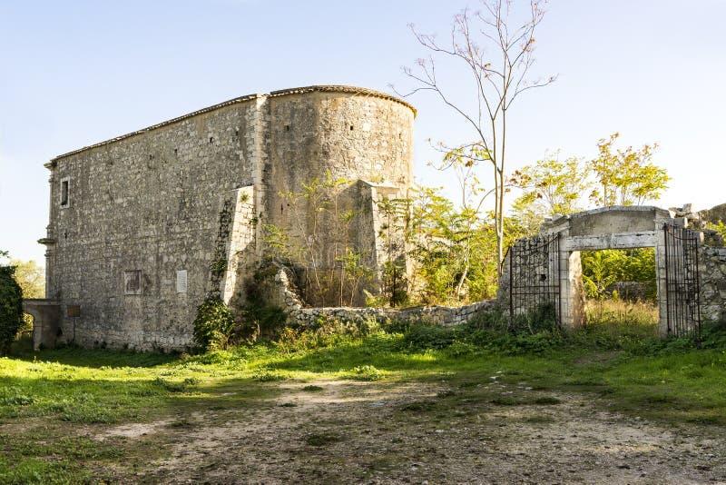 Ruínas do eremitério de Santa Maria della Provvidenza em Noto, Sicília - Itália fotografia de stock