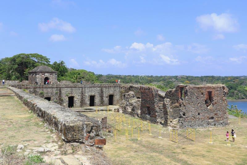 Ruínas do espanhol do forte de San Lorenzo foto de stock royalty free
