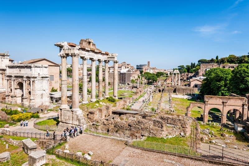 Ruínas do fórum romano Roma, Itália fotografia de stock royalty free