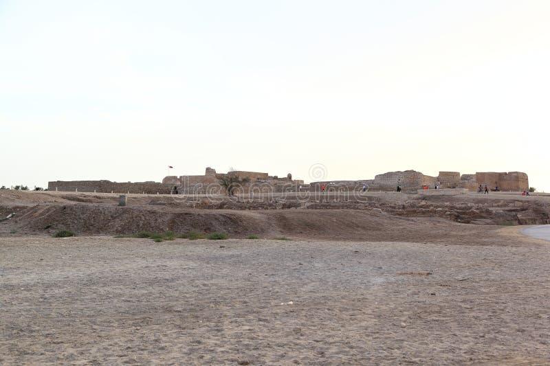 Ruínas do forte de Barém, Manama - Barém fotografia de stock royalty free
