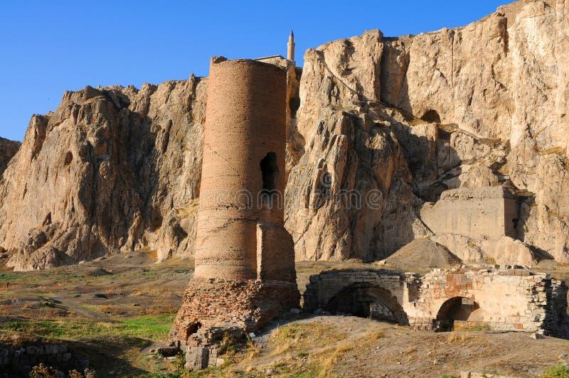 Ruínas do forte velho em Van, turquia oriental imagens de stock royalty free
