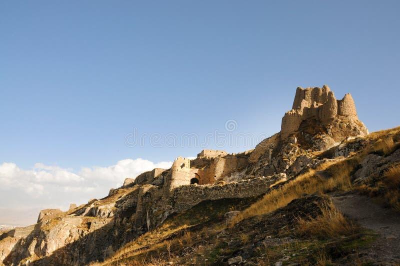 Ruínas do forte velho em Van, turquia oriental foto de stock