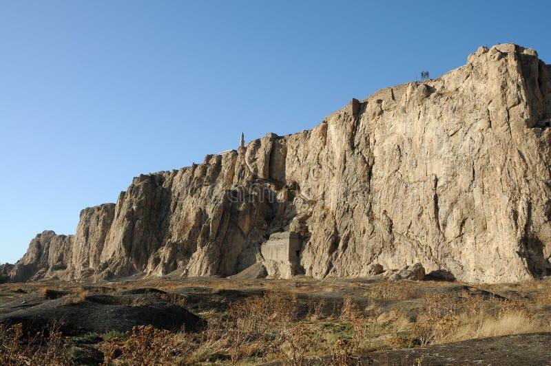 Ruínas do forte velho em Van, turquia oriental imagem de stock