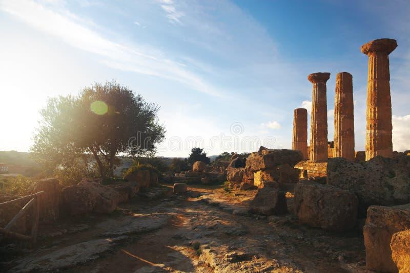 Ruínas do grego imagens de stock royalty free