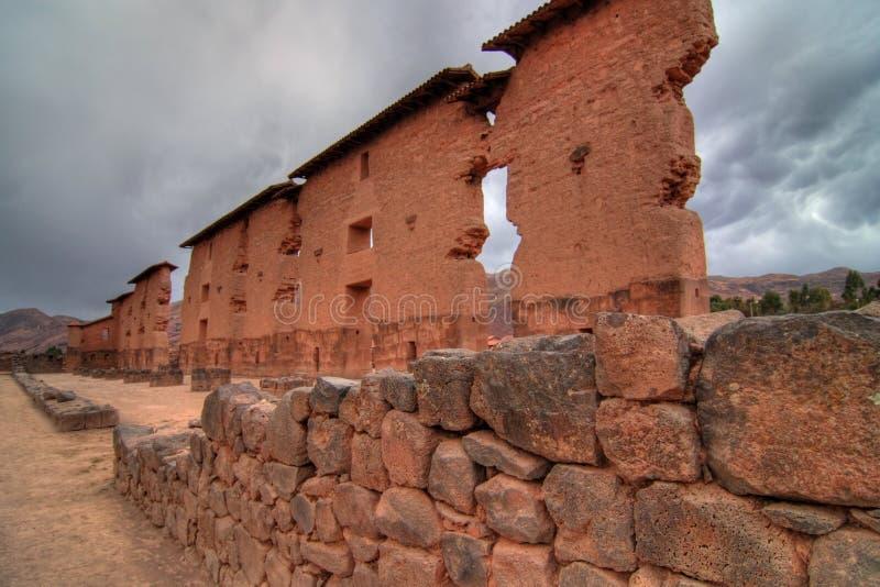 Ruínas do Inca em Peru fotografia de stock royalty free