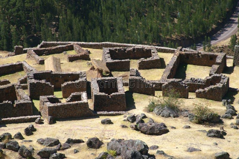 Ruínas do Inca em Pisac foto de stock royalty free