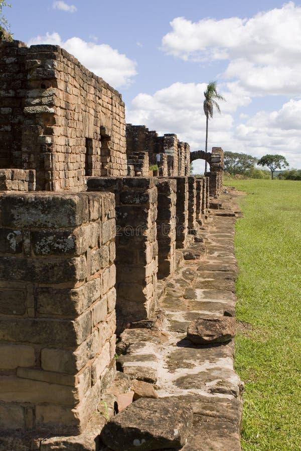 Ruínas do jesuíta em Trinidad fotografia de stock