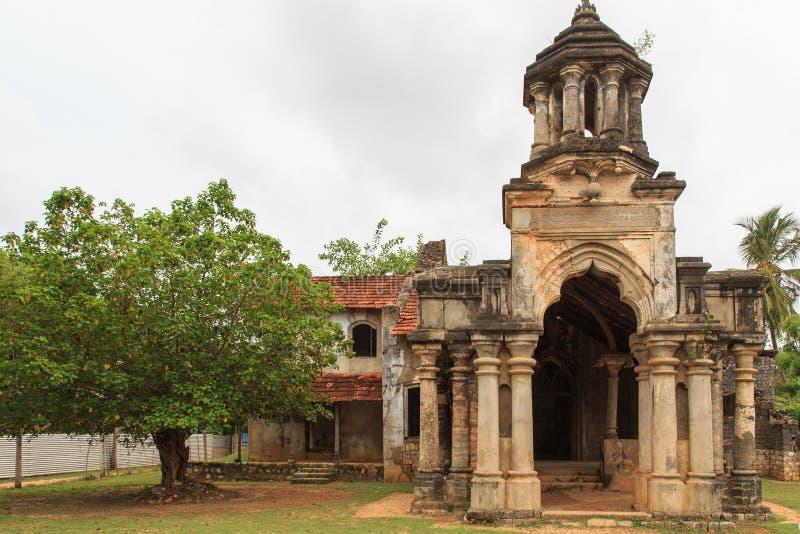 Ruínas do Mantri Manai ou Manthiri Manai - Jaffna - Sri Lanka fotografia de stock royalty free