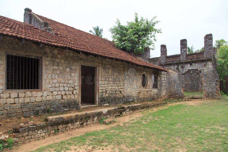 Ruínas do Mantri Manai ou Manthiri Manai - Jaffna - Sri Lanka imagem de stock