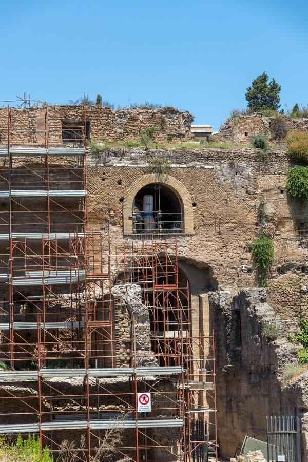 Ruínas do mausoléu de Augustus na cidade de Roma, Itália fotografia de stock royalty free