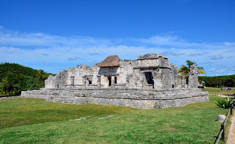 Ruínas do Maya de Tulum, México foto de stock