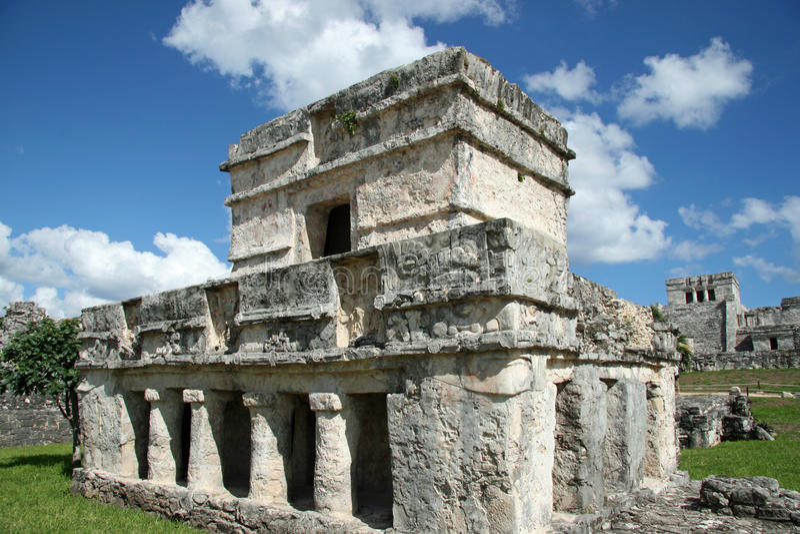 Ruínas do Maya em Tulum fotografia de stock