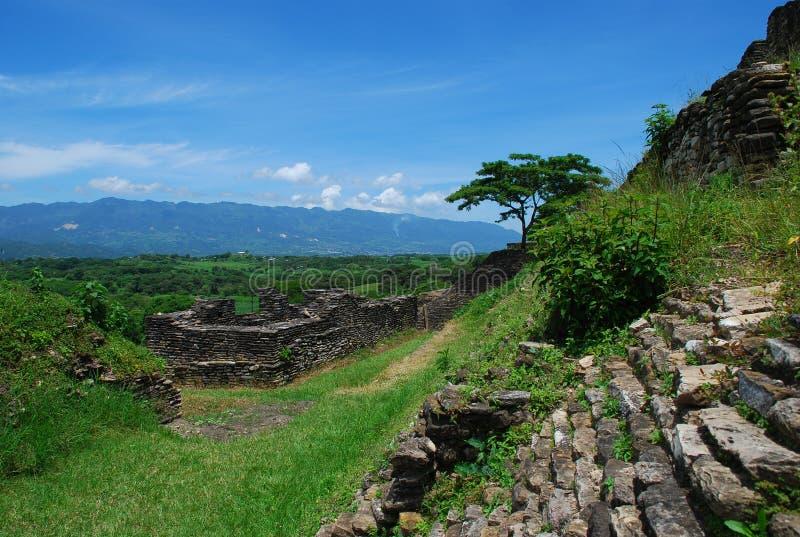 Ruínas do Maya, Tonina, México imagem de stock