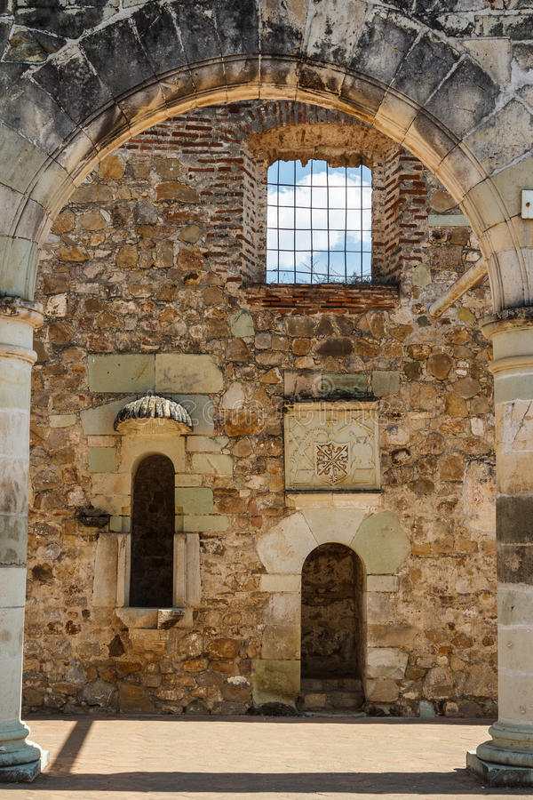 Ruínas do monastério de Cuilapan de Guerrero, Oaxaca foto de stock royalty free