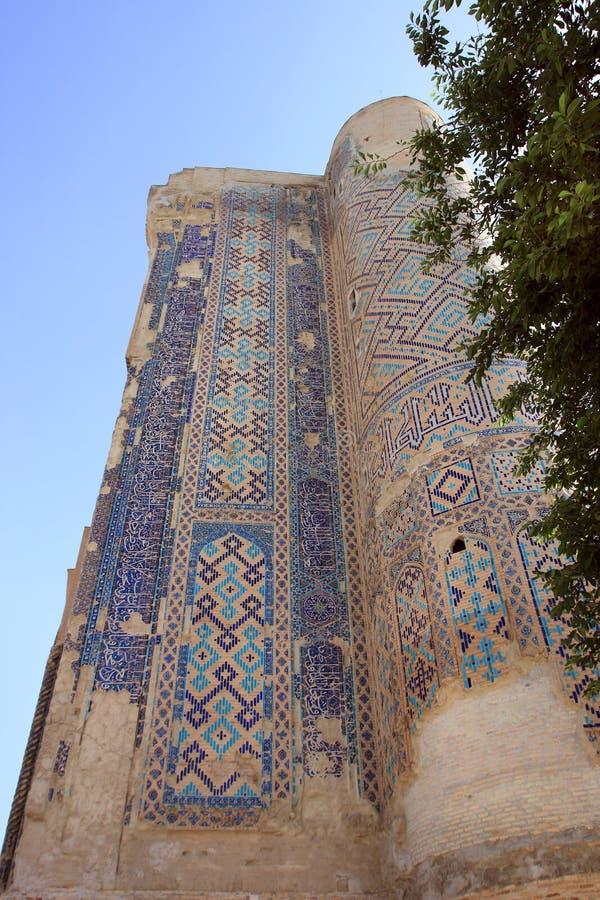 Ruínas do palácio de Aksaray de Timur em Shakhrisabz, Usbequistão imagem de stock royalty free