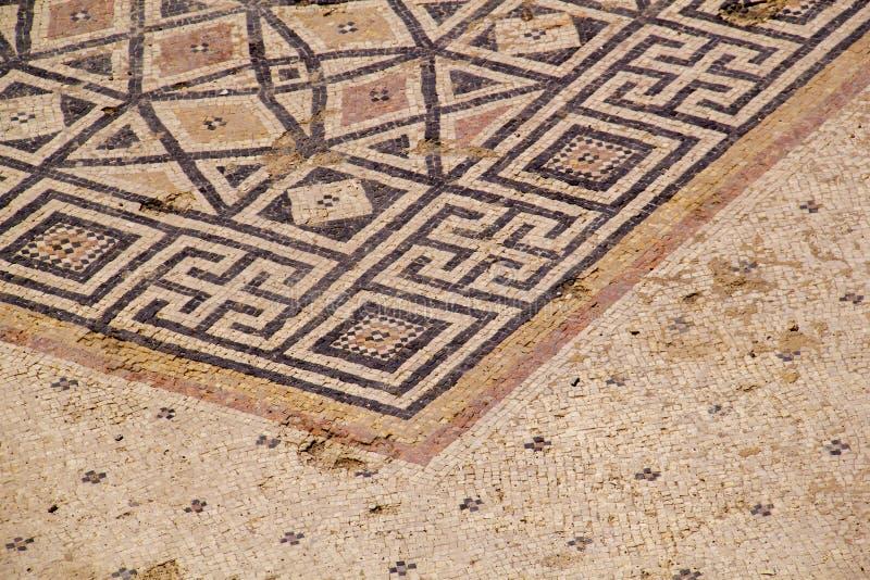 Ruínas do palácio de Herods em Caesarea Costa mediterrânea de Israel fotos de stock royalty free