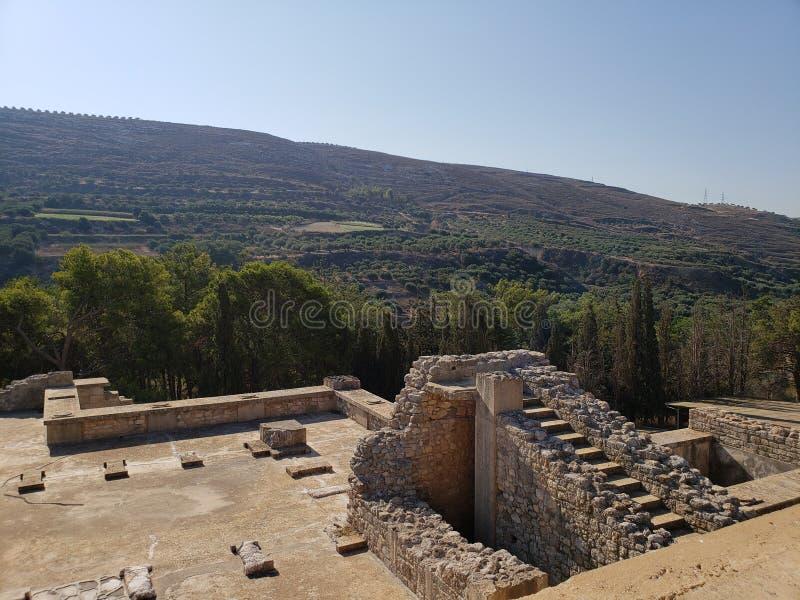 Ruínas do palácio de Knossos, na Creta imagem de stock royalty free