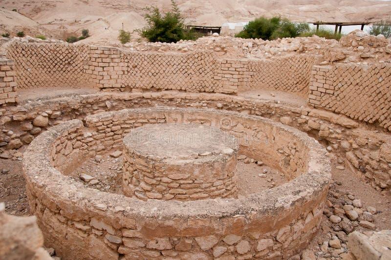 Ruínas do palácio do rei Herod fotos de stock royalty free