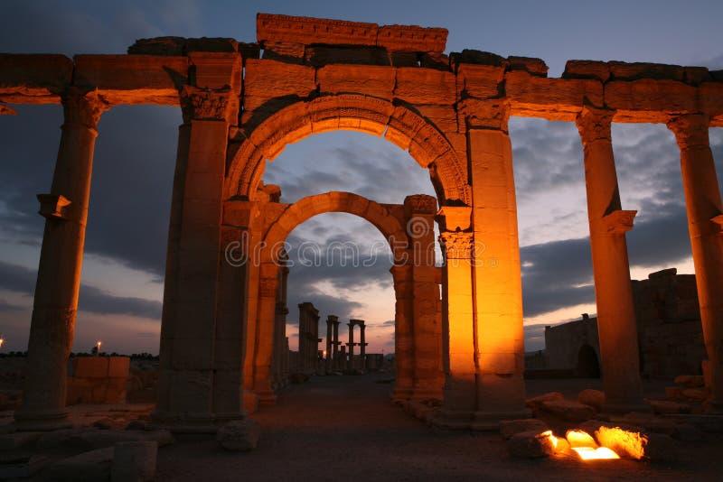 Ruínas do Palmyra foto de stock