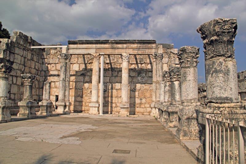 Ruínas do período de romanos em Capernaum foto de stock royalty free