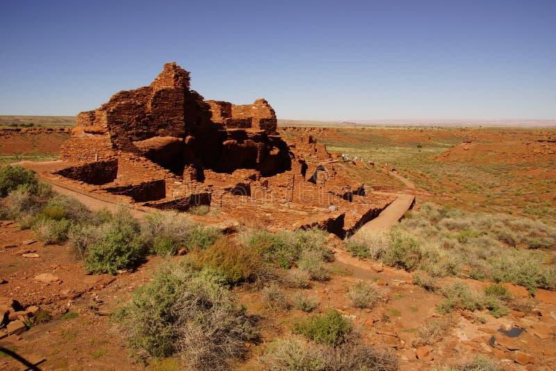 Ruínas do povoado indígeno de Wupatki fotos de stock royalty free