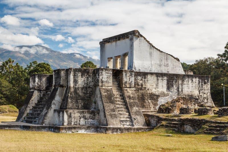 Ruínas do pre-hispânico & do x28; pre-Colombian& x29; cidade Zaculeu foto de stock