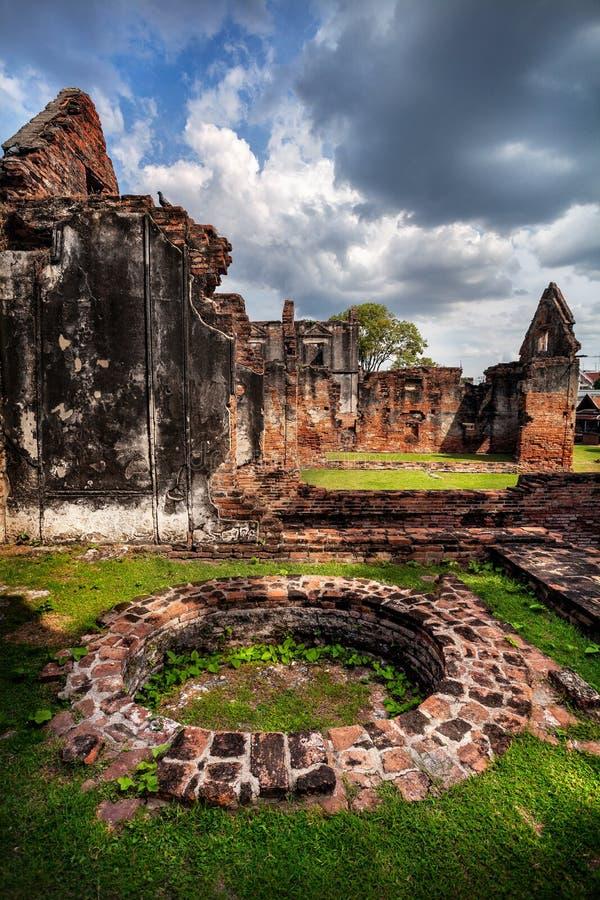 Ruínas do reino antigo Tailândia imagens de stock royalty free